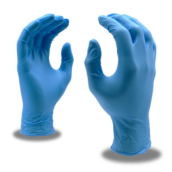 Cordova Gloves, 4090, SZ SM, Nitri-Cor Silver, 4 Mil, Powder-Free, Blue, 100/Box