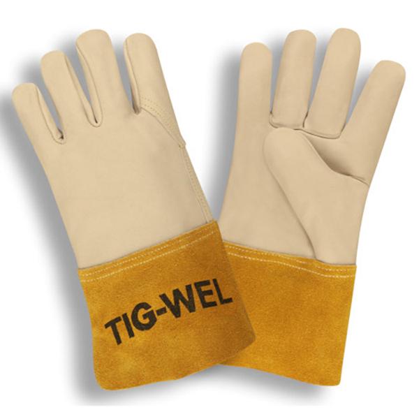 MIG/TIG Welding Gloves, SZ LG, Leather