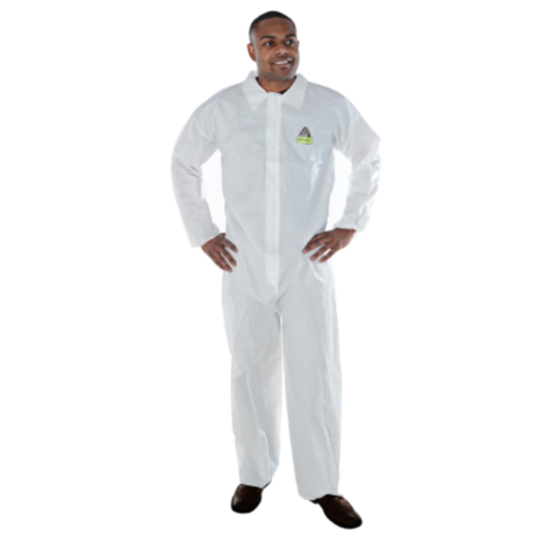 Cordova Safety Products Defender II™ MP100 Coveralls, Size Large, Microporous,