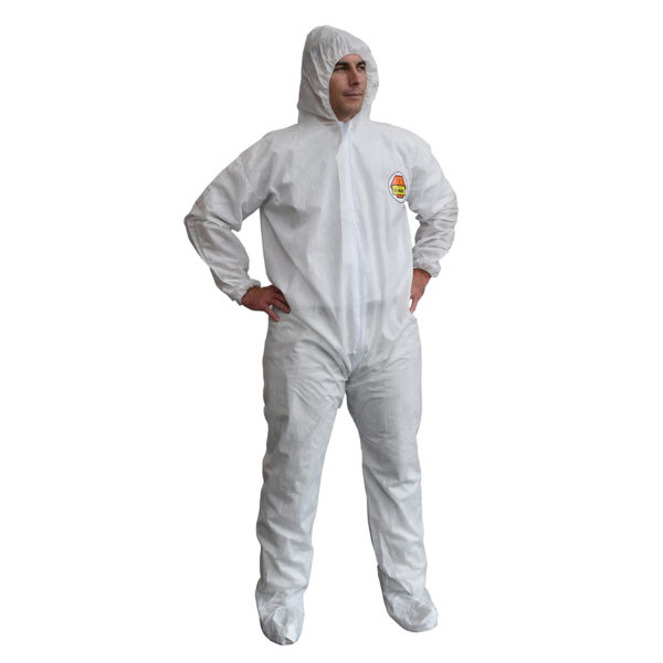 Cordova Safety C-Max™ Coverall, Size 3X-Large, Splash Resistant, Hood, Boots,