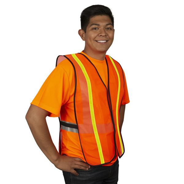 Safety Vest, Orange, SZ LG