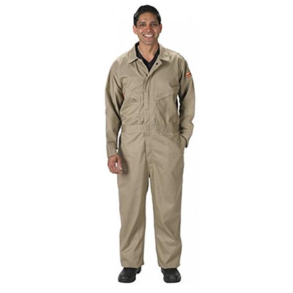 Lakeland FR Cotton Coveralls, 2X-Large, Khaki, 7 oz.