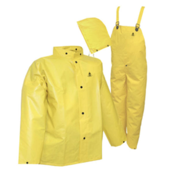 Tingley DuraScrim™ 3-Piece Rain Suit, 2X-Large, Yellow