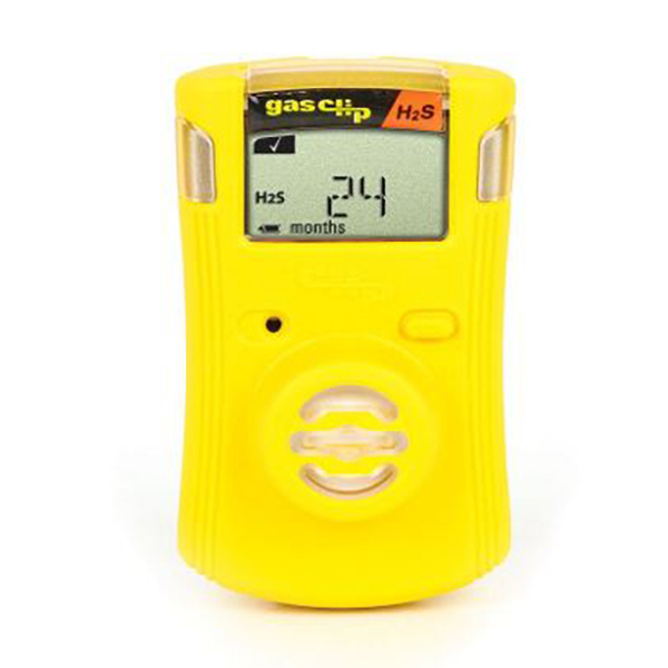 Monitor, Gas Clip, Single H2S, Yellow, 2 Year Battery Life