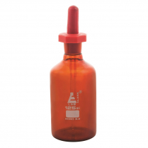 Dropping Bottle Polystop Amber Glass