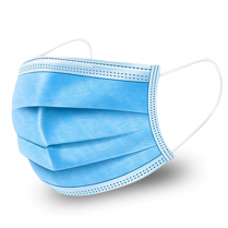 Face Mask Earloop, 3-Layer - Blue