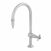 Laboratory Single Tap, Chrome plated fixed with tube nozzel
