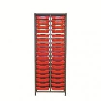 Double Column 1850H Gratnells Unit with Accessories - Set1