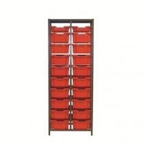 Double Column 1850H Gratnells Unit with accessories - Set2