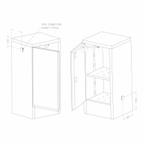 60L Modulab 4-IN-1 Safety Cabinet