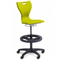 663-417 LabZest Lab Stool, Gas Lift with Wheels
