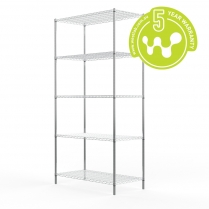 Stainless Steel Wire Shelving 455 x 910 (5 Shelves) CLEARANCE