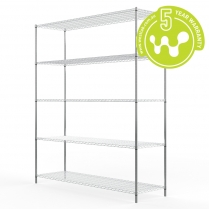 Stainless Steel Wire Shelving 455 x 1525 (5 Shelves) CLEARANCE