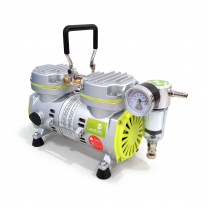 Westlab Vacuum Pump, Oil-Free with Double Head and Gauge