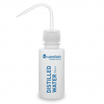 Wash Bottle, Plastic, Wide Mouth, Distilled Water Labelled 500ml