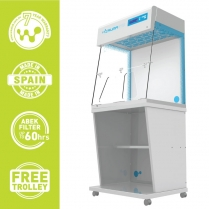 Ductless Fume Hood with Transparent Rear Panel