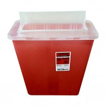 Sharps Container  - 12 quart Transparent Red