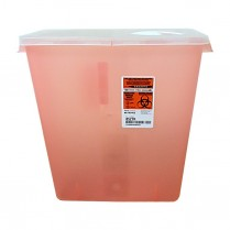 Sharps Container - 3 Gallon Red w/Rotor Lid Red