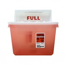 Sharps Container - 2 Gallon Red w/Balance Lid