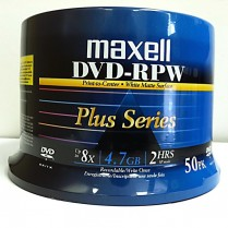 Maxell DVD 4.7 Write Once 50/spindle w/o Case