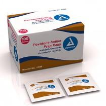 Povidone Iodine (PVP) Pads - 100/box