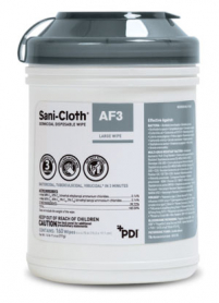 Sani-Cloth, AF3 Germicidal Wipes, Grey Top, 160/canister