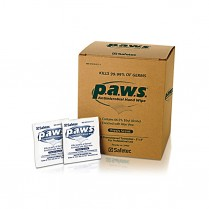 PAWS Antimicrobial Hand Wipe, 100/box