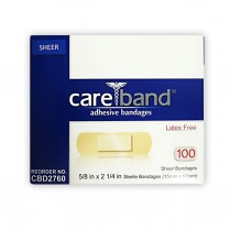 "Bandaid Jr.,Sheer, 5/8"" x 2 1/4"", 100/BX"