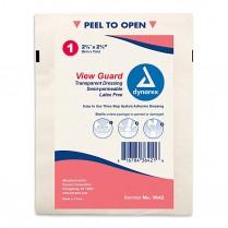 "View Guard Transparent IV Dressing 2 3/8"" x 2 3/4"" 100/box"