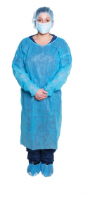 Isolation Gown, blue, Long Sleeve