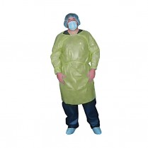 Isolation Gown, Yellow, Long Sleeve