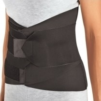 Sacro-Lumbar Support, Small Black with Compression Straps