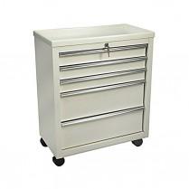 Lakeside Cart BV05, Bedside Locking 5 Drawer