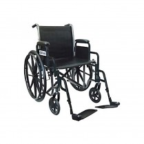 "Wheelchair, SilverSport 18"", Detach Arm, SA Elev Legrest"