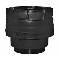 "Stove Pipe PV Adapter Increaser Black, 3""-4"""