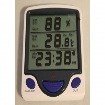 Thermometer Jumbo Display Hygro-Thermometer Clock w/ Sensor