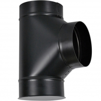 Stove Pipe Cleanout Tee/Cap Black