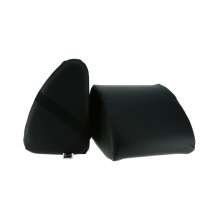 Knee Bolster-Black, Pair