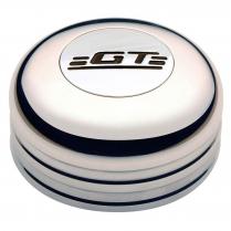 GT3 3 Bolt Std Engraved GT Emblem Horn Button - Polished