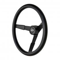 GT3 Classic Black Foam Steering Wheel with 3 Black Spokes