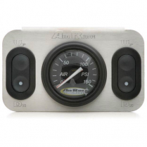 2 Way RidePro Control Panel with Black Face Analog Gauge