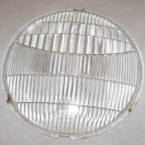 1933-34 Ford Glass Headlight Lens with Script