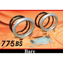 "5-3/4"" Frenched Headlamp Conversion Kit - Bare Steel"