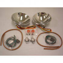 1937-39 Ford Halogen Reflector Kit w/Turn Signal