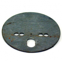 "Centered Airspring Pattern Plate - 1/8"" Mild Steel 5-1/2"" OD"