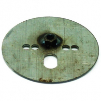 "Airspring Pattern Plate with 7/16"" Nut Centered - 5-1/2"" OD"