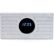 Aluminum clock panel with VFD clock