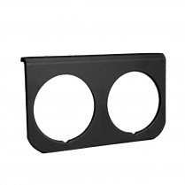 "Black Aluminum 2 Hole Gauge Panel - 2-1/16"""