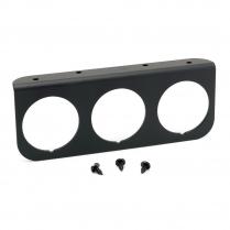 "Black Aluminum 3 Hole Gauge Panel - 2-1/16"""