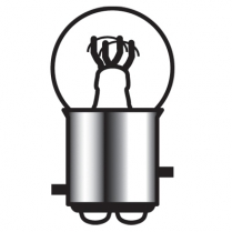 Bright Bulb Dual Filament Small, Staggered Pin - Clear